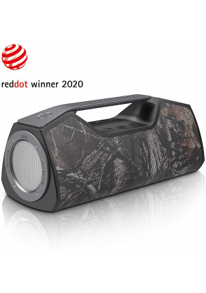 Wharfedale Portable Bluetooth Speaker with 25W Stereo Sound, Rich Bass, IPX7 Waterproof, Power Bank, Adjustable LED Light, Built-in DSP, Type-C USB Charging, Rugged Speaker for Home, Outdoors