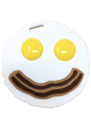 Baby Teething Toy Egg and Bacon Silicone Baby Teether- Breakfast Infant Molar Teether