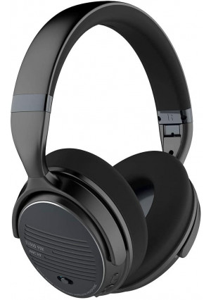 Cloud Fox Active Noise Cancelling Headphones, ANC Wireless and Wired Bluetooth 4.0 Headset, Foldable Over-Ear Headphones with Comfortable Earpads, HiFi Stereo Headset with Mic, 16 Hours Playtime