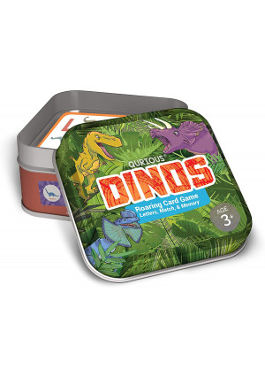 Qurious Dinos   STEM Flash Card Game   Build, Find, Match and Roar Through Millions of Years of History. Perfect for Jurassic, Dinosaur and T-Rex Enthusiasts