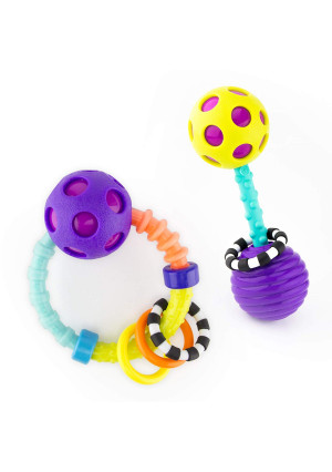 Sassy My First Bend and Flex Rattle Set - 2 Piece - for Ages 0+ Months