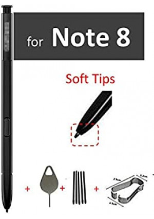 Galaxy Note 8 Pen Replacement Black, Stylus Touch S Pen for Galaxy Note 8 Note8 N950 Stylus Touch S Pen with Tips/Nibs Eject Pin