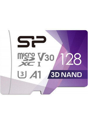 Silicon Power 128GB Micro SDXC UHS-I U3 Gaming Matrix, High Speed Micro SD Card with Adapter