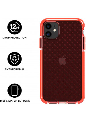 tech21 Evo Check for Apple iPhone 11 - Hygienically Clean Antimicrobial Phone Case with 12 ft. Drop Protection