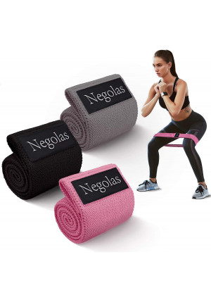 Resistance Exercise Bands for Legs and Butt, Workout Booty Bands Wide Elastic Loop Thick Cloth Thigh Bands Fitness Non Slip Stretch Bands with Free Carry Bag