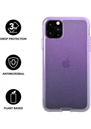 tech21 Pure Shimmer Mobile Phone Case - Compatible with iPhone 11 Pro - Ultra Thin, Shimmer Effect with Anti-Microbial Properties and Drop Protection, Pink