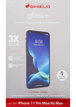 ZAGG InvisibleShield Glass+ Screen Protector  High-Definition Tempered Glass Made for Apple iPhone 6.1  Impact and Scratch Protection