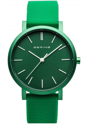 BERING Time | Unisex Slim Watch 16934-899 | 34MM Case | True Aurora Collection | Silicone Strap | Scratch-Resistant Sapphire Crystal | Minimalistic - Designed in Denmark