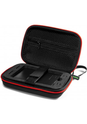 AxiGear Weather Resistant Portable External Hard Drive Carrying Case Hard Travel Case with Shockproof Foam Insert for Seagate, Toshiba and Western Digital External Hard Drive (Black)