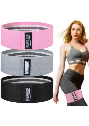 NVRGIUP Exercise Resistance Bands for Legs and Butt, Upgrade Thicken Anti-Slip and Roll Home Gym Workout Booty Bands, Wide Fabric Loop Thigh Glute Bands Set for Women with Ebook and Video