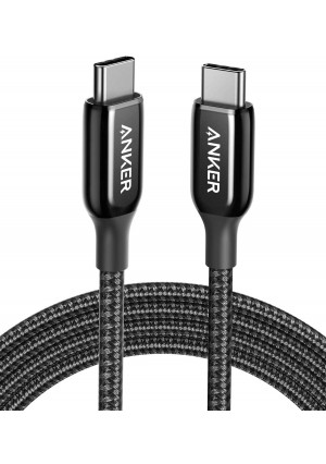 USB C to USB C Cable, Anker Powerline+ III USB C to USB C (6ft) USB-IF Certified Cable, 60W Power Delivery PD Charging for Apple MacBook, iPad Pro 2020, Google Pixel 3a/4 XL and More Type-C Devices