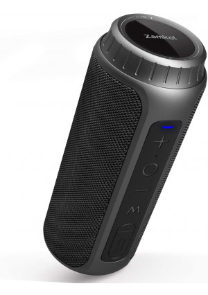 Zamkol Bluetooth Speaker 30W Waterproof Bluetooth Speakers Portable Wireless Loud Stereo Sound and Enhanced Bass Speaker Bluetooth 5.0, Built-in Mic, IPX6 for Home Party, Shower, Outdoor, Travel