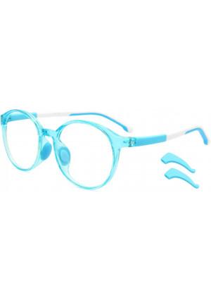 Livho Kids Blue Light Blocking Glasses, Computer Gaming TV Glasses for Boys Girls Age 3-15 Anti Glare and Eyestrain and Blu-ray Filter (Blue)