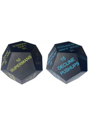 Series 8 Fitness Exercise Dice 2020 Edition - Beginner Bright Green and Intermediate Light Blue Set of 2