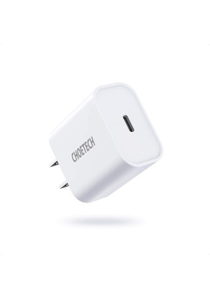 USB C Charger, CHOETECH 18W PD Fast Charger Ultra-Compact Type C Wall Charger Compatible iPhone 11/11 Pro/11 Pro Max/X/XS/XR/8/8 Plus, iPhone SE, iPad Pro, Pixel 3/4, Galaxy S10+/S10/S9, LG and More