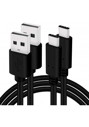 2-Pack USB-C Cable Extra Thick Fast Charger 4 Foot Replacement for Samsung Galaxy S8 S9 S10 S20 S9/10/20-Plus Note 8 9 10 LG G7 G8 V40 Huawei Honor View 20 P40 U12 Moto Z2 Z3 Type-C Cable, Moona