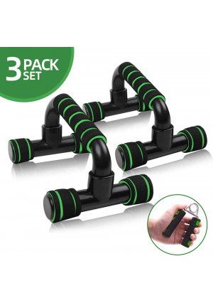 Push Up Bars ROSRAN Pushup Handle with Cushioned Foam Grip - Portable Pushup Stands for Home Workout Equipment - Push Up Handles for Floor Fitness Sturdy Structure with Grips Strengthener