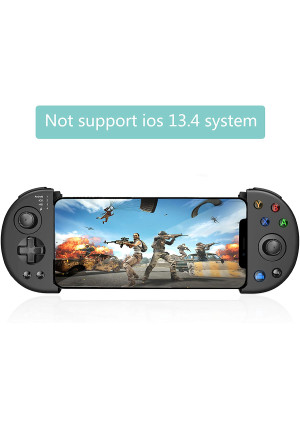 Wireless Mobile Controller Gamepad, PUBG Mobile Game Controller with Triggers for 3.5-6.5 Inch Android iOS 11.0~13.3, for Most of Shooting Games Stretchable Grip FPS Games Gamepad